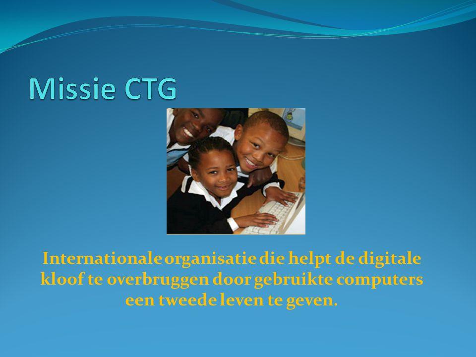 Internationale organisatie die helpt de digitale kloof te overbruggen door gebruikte computers een tweede leven te geven.