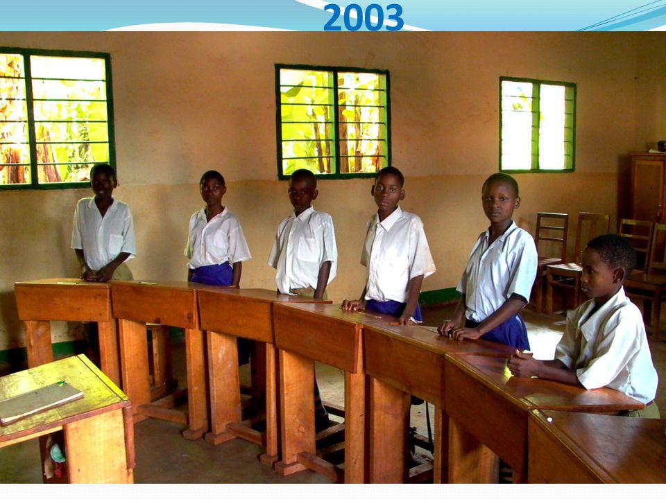 Na inauguratie eerste klaslokaal groot probleem: Niet 13 maar ca 120 dove kinderen.