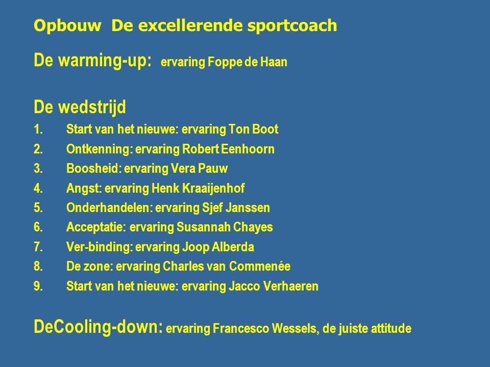 De excellerende sportcoach gaat over 1.Het pad van verandering om persoonlijke groei te begrijpen.