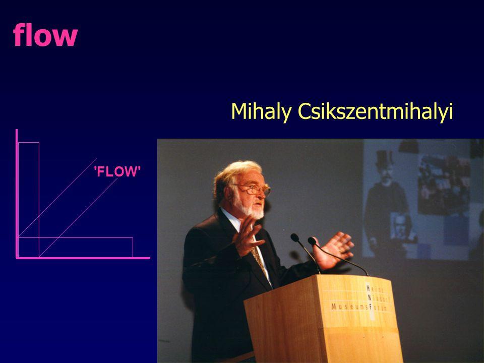 flow 'FLOW' Mihaly Csikszentmihalyi