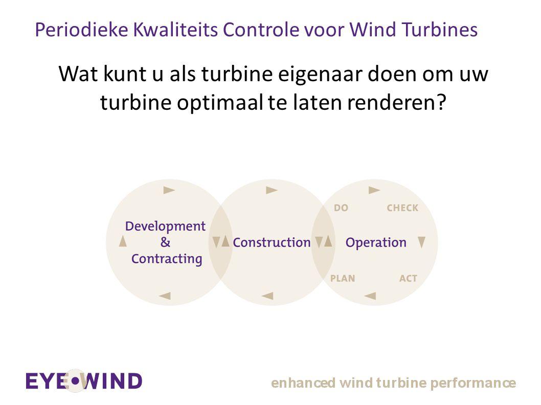 Periodieke Kwaliteits Controle voor Wind Turbines Wat kunt u als turbine eigenaar doen om uw turbine optimaal te laten renderen?