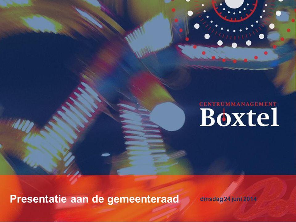 Centrummanagement Boxtel Presentatie aan de gemeenteraad dinsdag 24 juni 2014 Presentatie aan de gemeenteraad dinsdag 24 juni 2014