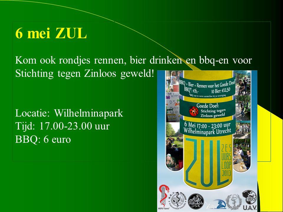 6 mei ZUL Kom ook rondjes rennen, bier drinken en bbq-en voor Stichting tegen Zinloos geweld.