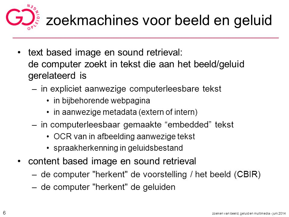 ook content based video websearch op komst ?.