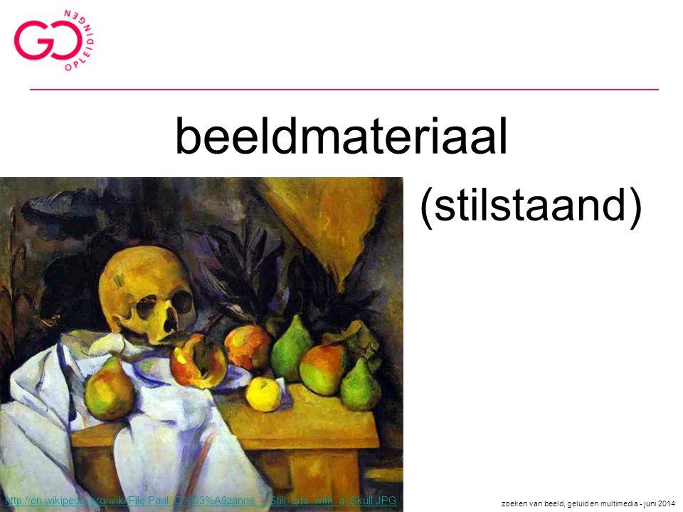 beeldmateriaal (stilstaand) http://en.wikipedia.org/wiki/File:Paul_C%C3%A9zanne_-_Still_Life_with_a_Skull.JPG zoeken van beeld, geluid en multimedia -