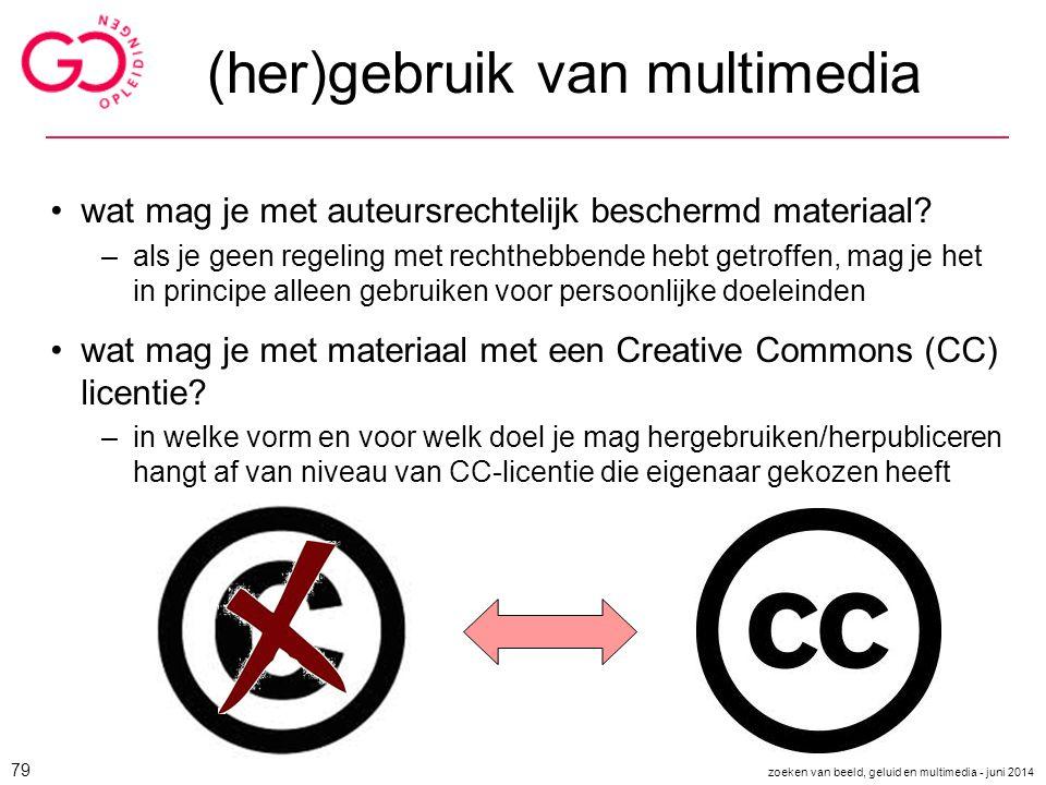 (her)gebruik van multimedia wat mag je met auteursrechtelijk beschermd materiaal? –als je geen regeling met rechthebbende hebt getroffen, mag je het i