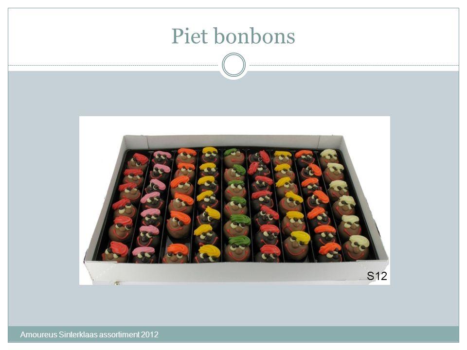 Amoureus Sinterklaas assortiment 2012 Piet bonbons S12