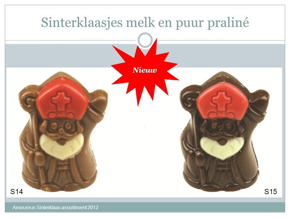 Sinterklaasjes melk en puur praliné Amoureus Sinterklaas assortiment 2012 S14S15 Nieuw