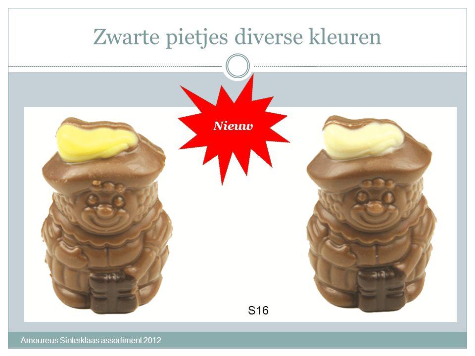 Zwarte pietjes diverse kleuren Amoureus Sinterklaas assortiment 2012 S16 Nieuw