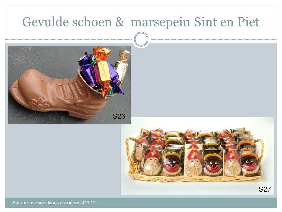 Gevulde schoen & marsepein Sint en Piet Amoureus Sinterklaas assortiment 2012 S26 S27