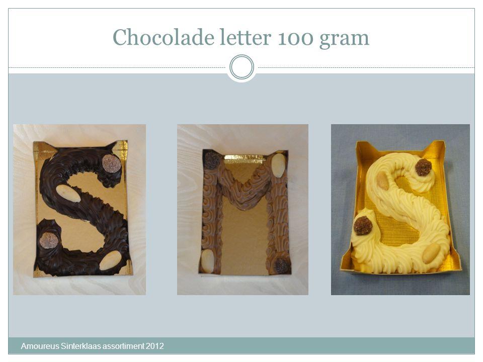 Chocolade letter 100 gram Amoureus Sinterklaas assortiment 2012