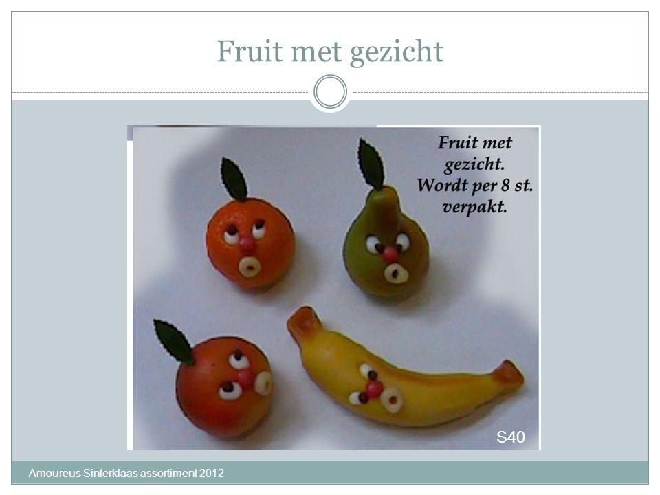 Fruit met gezicht Amoureus Sinterklaas assortiment 2012 S40