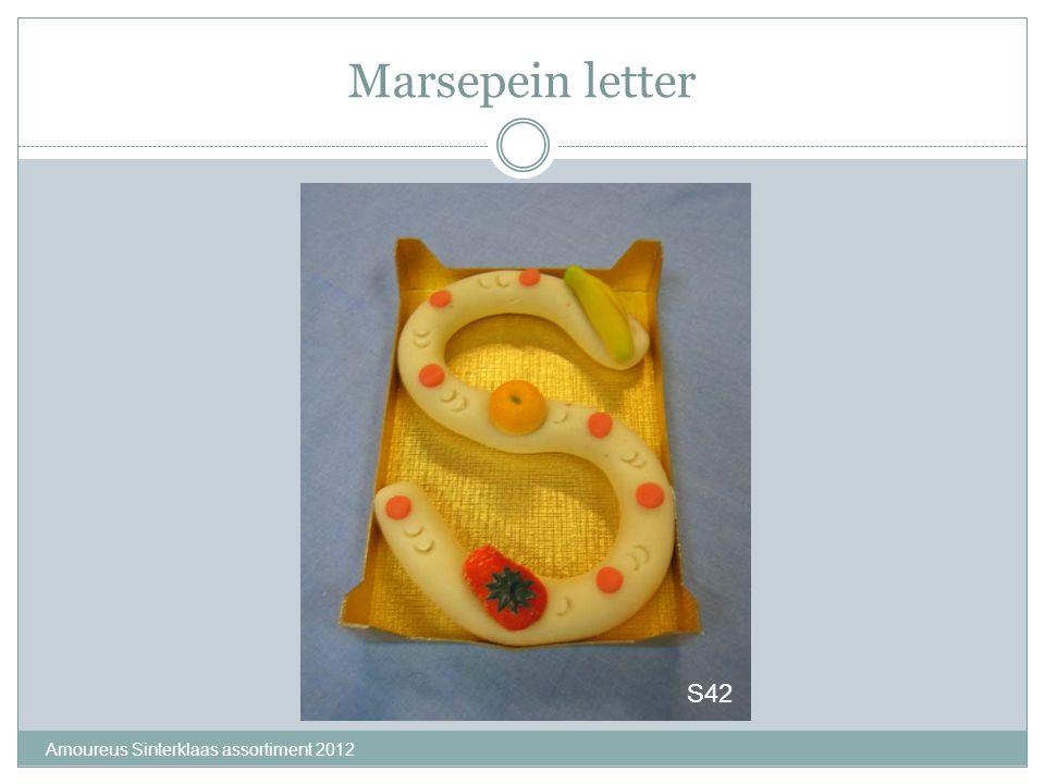 Marsepein letter Amoureus Sinterklaas assortiment 2012 S42