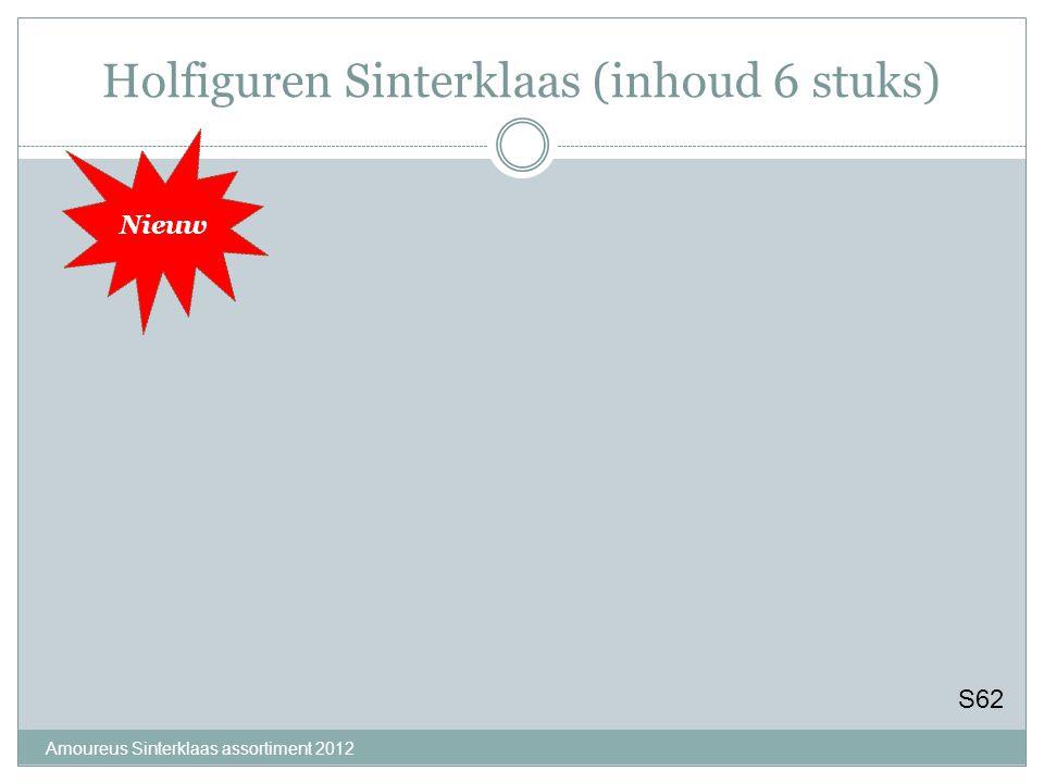 Holfiguren Sinterklaas (inhoud 6 stuks) Amoureus Sinterklaas assortiment 2012 S62 Nieuw