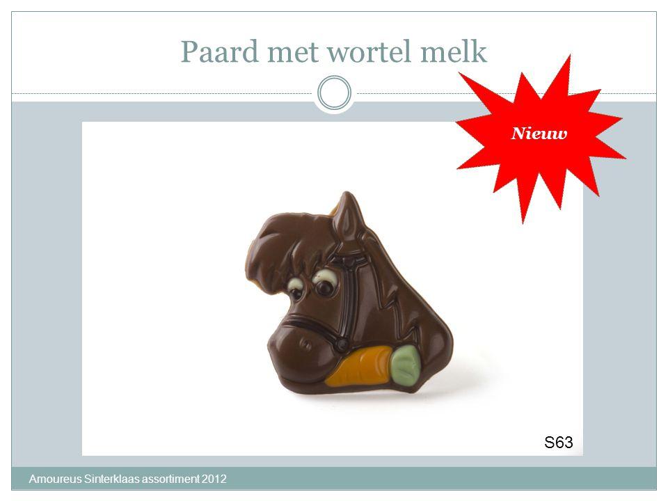 Paard met wortel melk Amoureus Sinterklaas assortiment 2012 Nieuw S63
