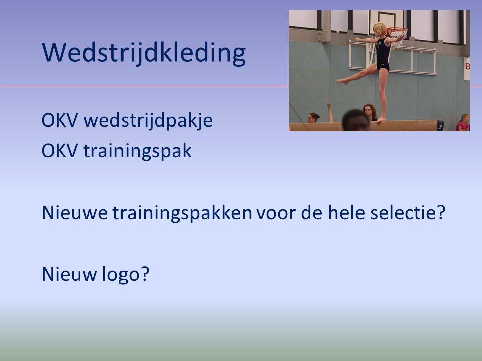 Wedstrijdkleding OKV wedstrijdpakje OKV trainingspak Nieuwe trainingspakken voor de hele selectie? Nieuw logo?