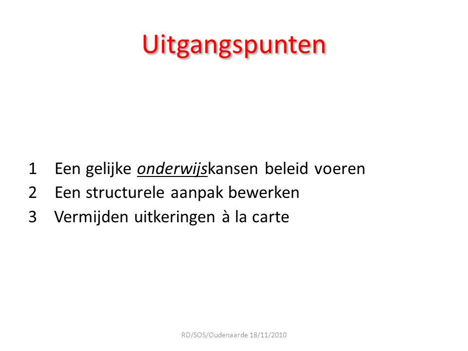 Stappenplan 2 Concepten 2 Principes 2 Financiële regelingen RD/SOS/Oudenaarde 18/11/2010