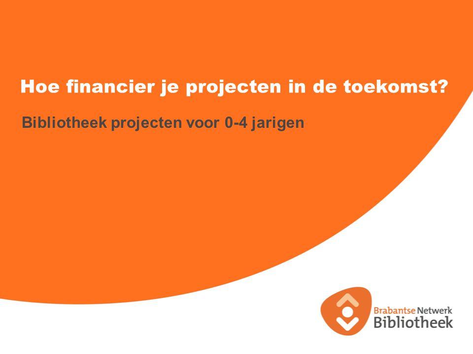Hoe financier je projecten in de toekomst? Bibliotheek projecten voor 0-4 jarigen
