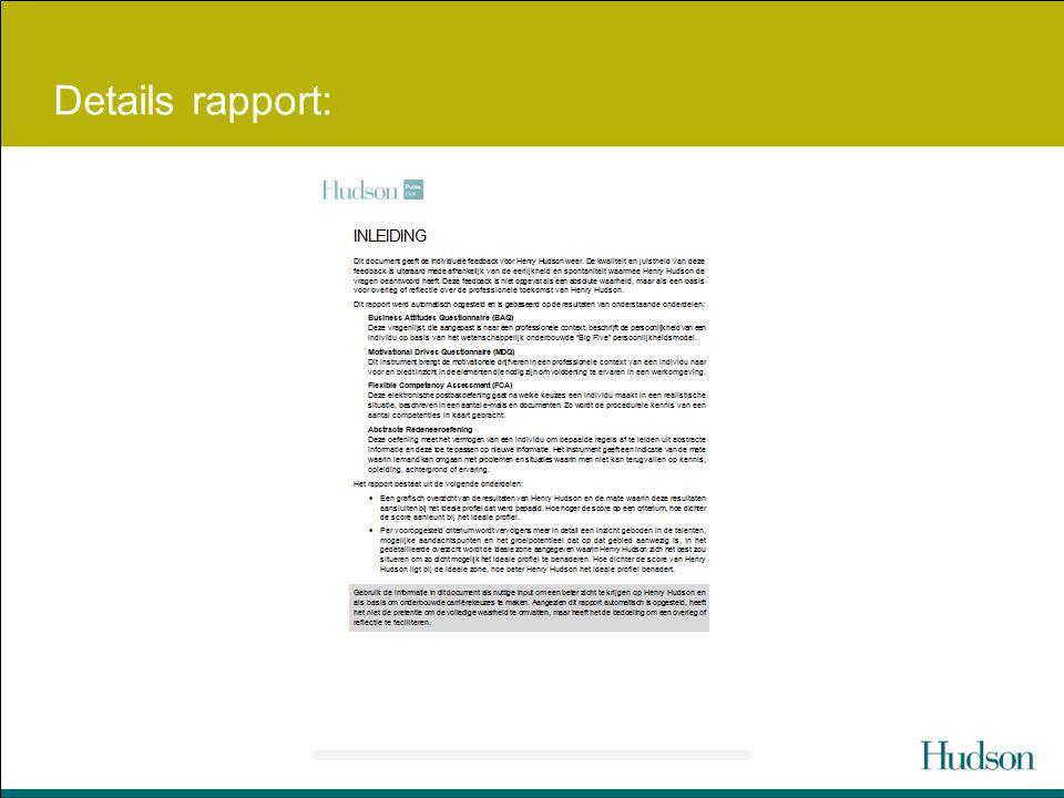 Details rapport: