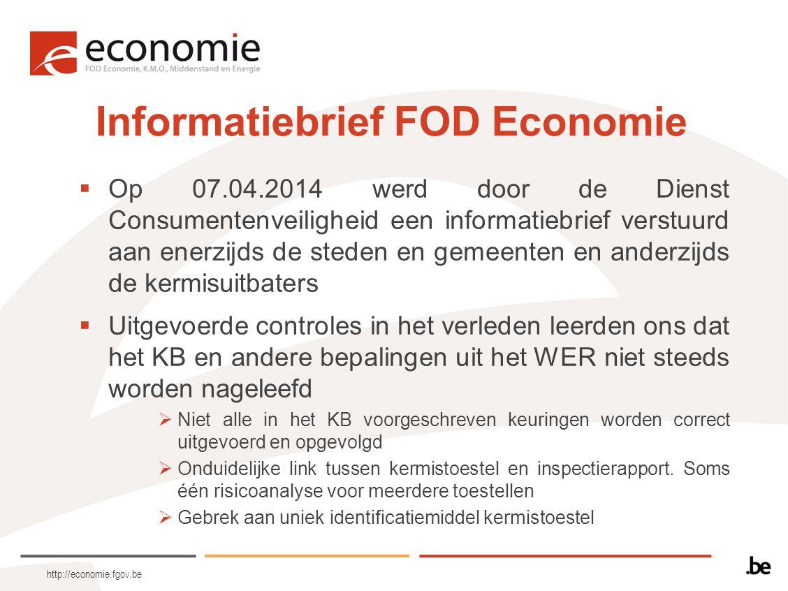 http://economie.fgov.be  Op 07.04.2014 werd door de Dienst Consumentenveiligheid een informatiebrief verstuurd aan enerzijds de steden en gemeenten e