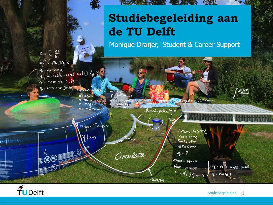 1 Studiebegeleiding 1 Studiebegeleiding aan de TU Delft Monique Draijer, Student & Career Support Studiebegeleiding