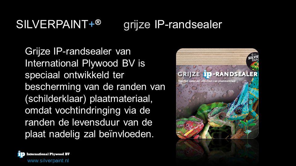 Grijze IP-randsealer van International Plywood BV is speciaal ontwikkeld ter bescherming van de randen van (schilderklaar) plaatmateriaal, omdat vocht