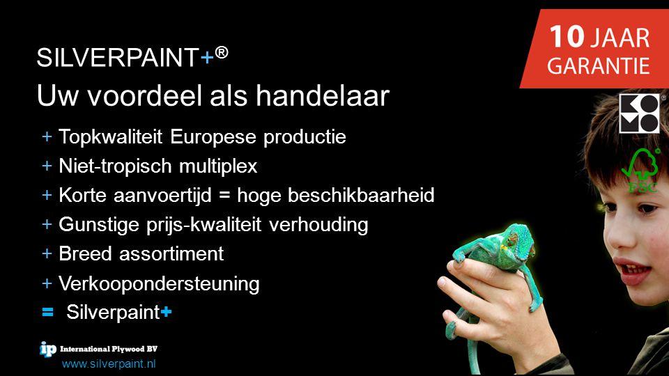 Uw voordeel als handelaar + + Topkwaliteit Europese productie + + Niet-tropisch multiplex + + Korte aanvoertijd = hoge beschikbaarheid + + Gunstige pr