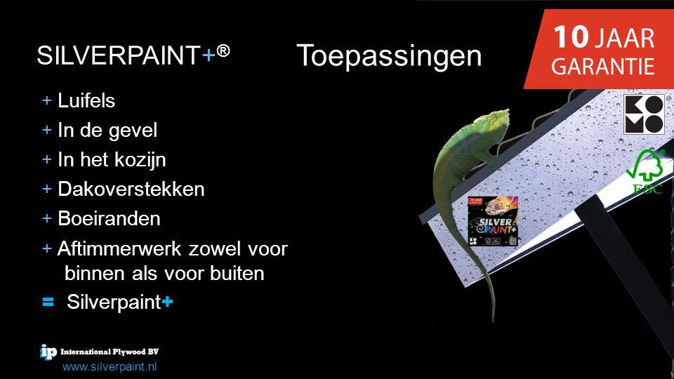 Toepassingen SILVERPAINT+ SILVERPAINT+ ® www.silverpaint.nl