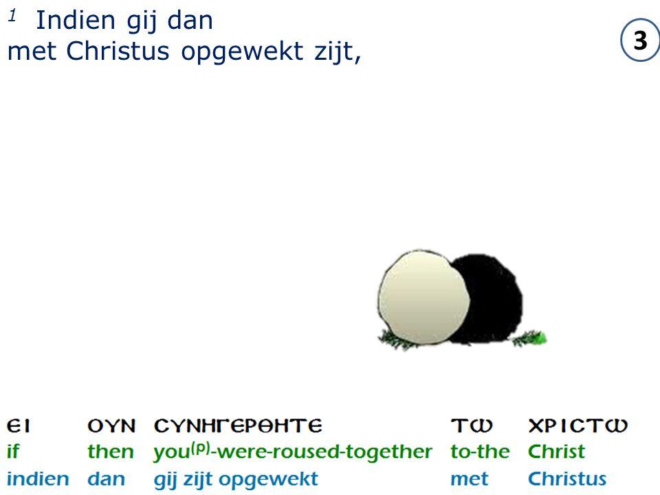 2 1 Indien gij dan met Christus opgewekt zijt, 3