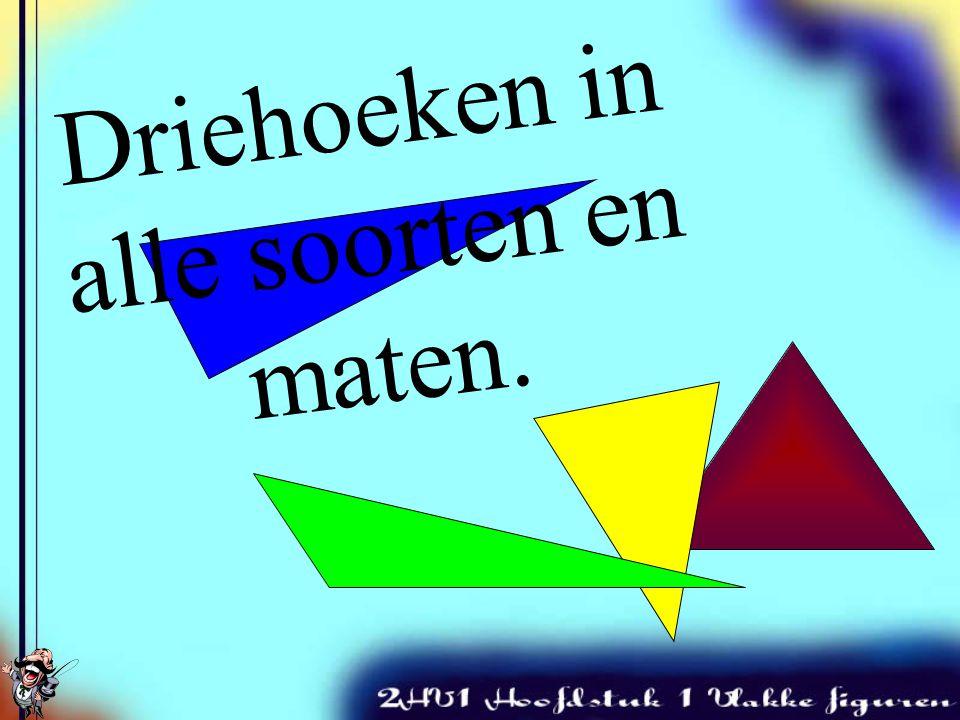 Driehoeken Soorten driehoeken & rekenen met hoeken Rekenvoorbeelden Hoekensom-regel Rekenvoorbeeld Gestrekte hoek. Huiswerk Inhoudsopgave