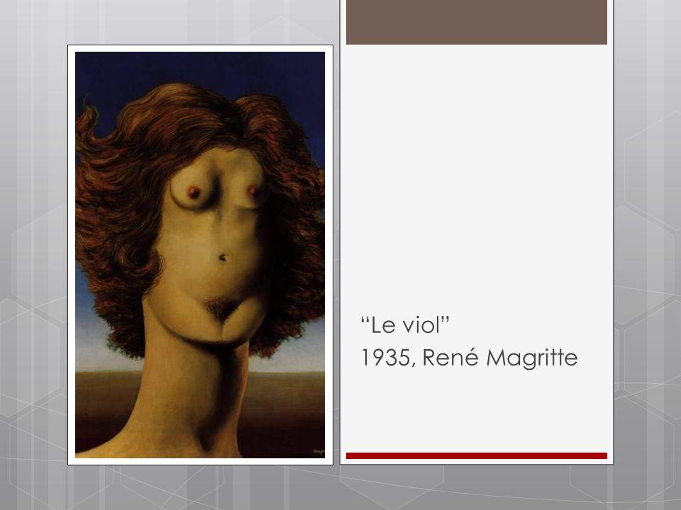 """""""Le viol"""" 1935, René Magritte"""