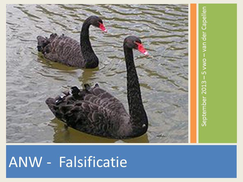 Lesdoel/lesonderwerp Onderwerp: Falsificatie Lesdoel: Leerlingen weten wat falsificatie is en welke rol falsificatie speelt binnen de wetenschap en hoe dit toegepast kan worden.
