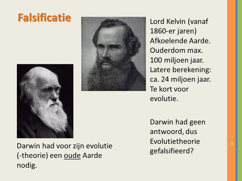 16 Lord Kelvin (vanaf 1860-er jaren) Afkoelende Aarde.