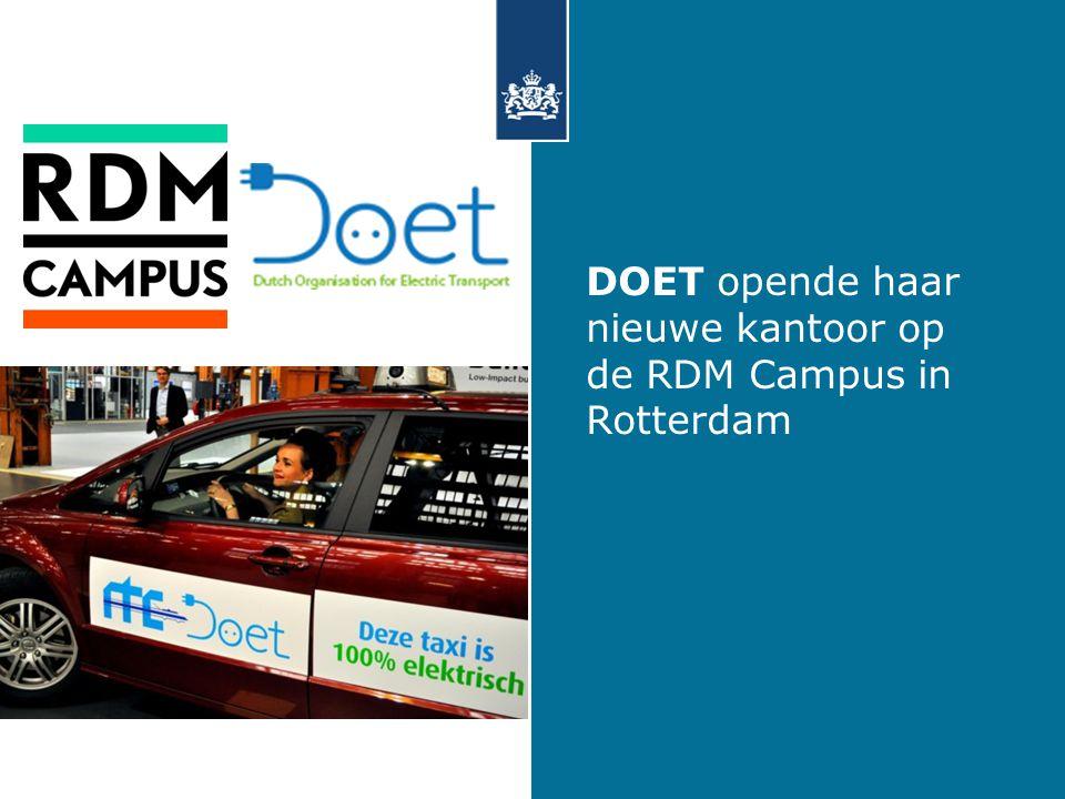 DOET opende haar nieuwe kantoor op de RDM Campus in Rotterdam