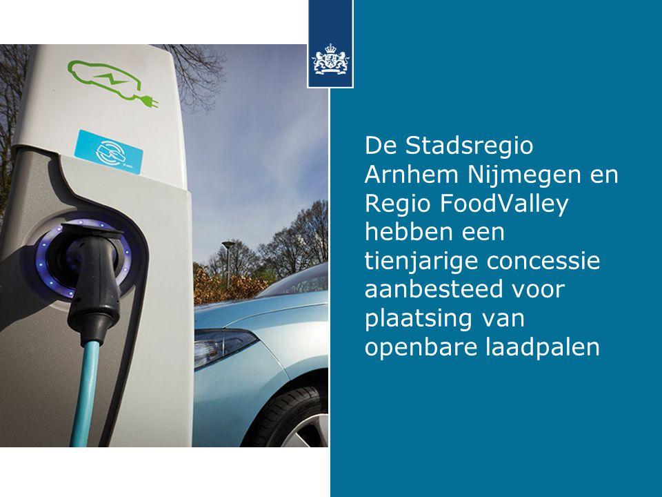 De Stadsregio Arnhem Nijmegen en Regio FoodValley hebben een tienjarige concessie aanbesteed voor plaatsing van openbare laadpalen