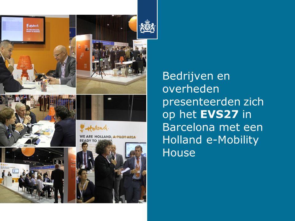 Bedrijven en overheden presenteerden zich op het EVS27 in Barcelona met een Holland e-Mobility House