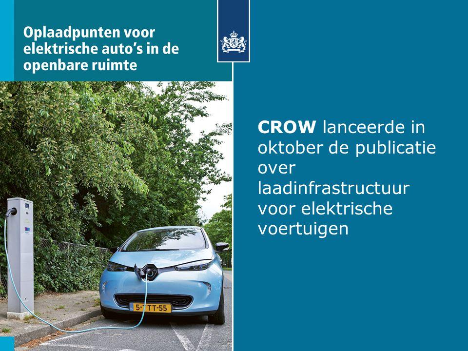CROW lanceerde in oktober de publicatie over laadinfrastructuur voor elektrische voertuigen