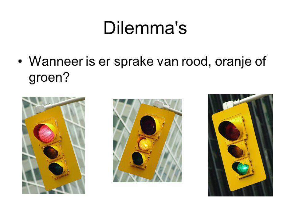 Dilemma's Wanneer is er sprake van rood, oranje of groen?