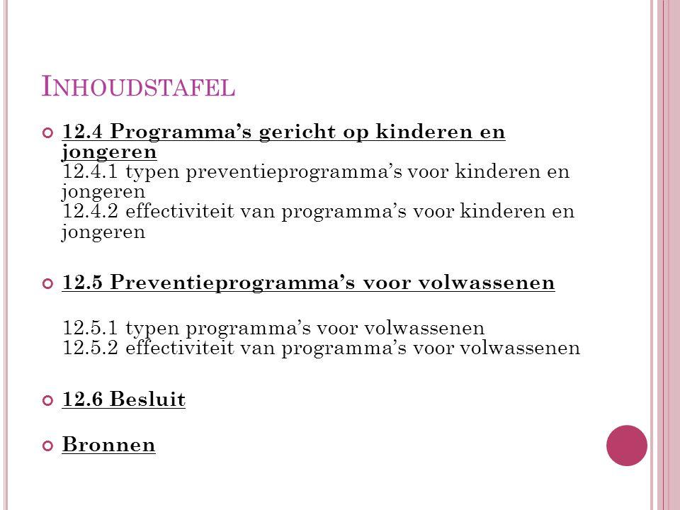 BRONNEN Van Oosten, N., & Höing, M.(2009). Primaire preventie van seksueel geweld.