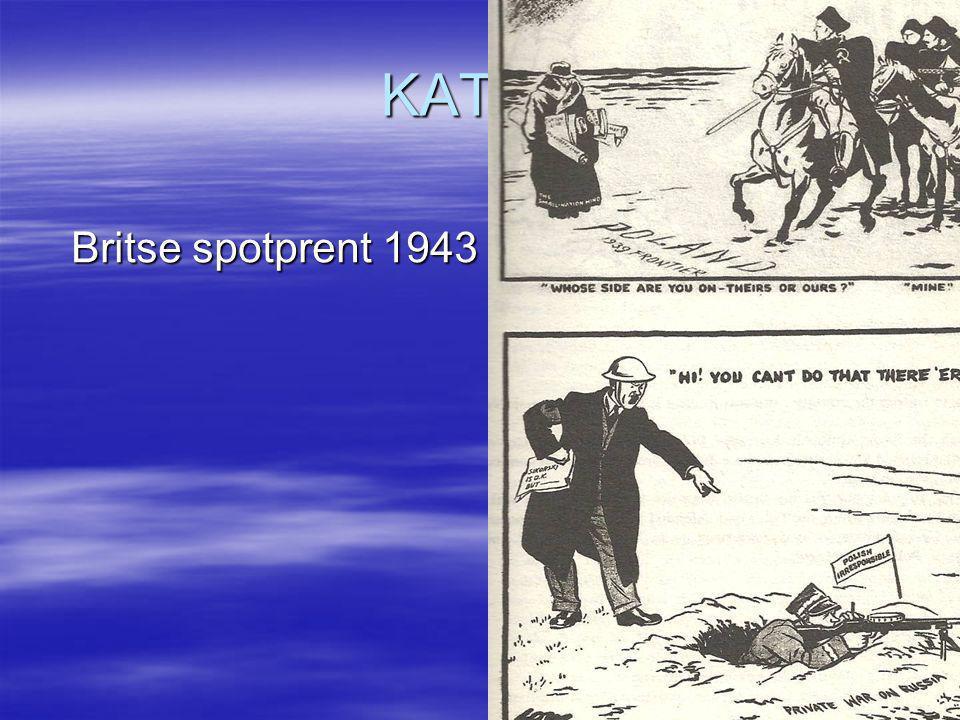 KATYN Britse spotprent 1943 Britse spotprent 1943
