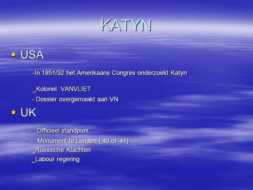 KATYN  USA -In 1951/52 het Amerikaans Congres onderzoekt Katyn -In 1951/52 het Amerikaans Congres onderzoekt Katyn _Kolonel VANVLIET _Kolonel VANVLIE
