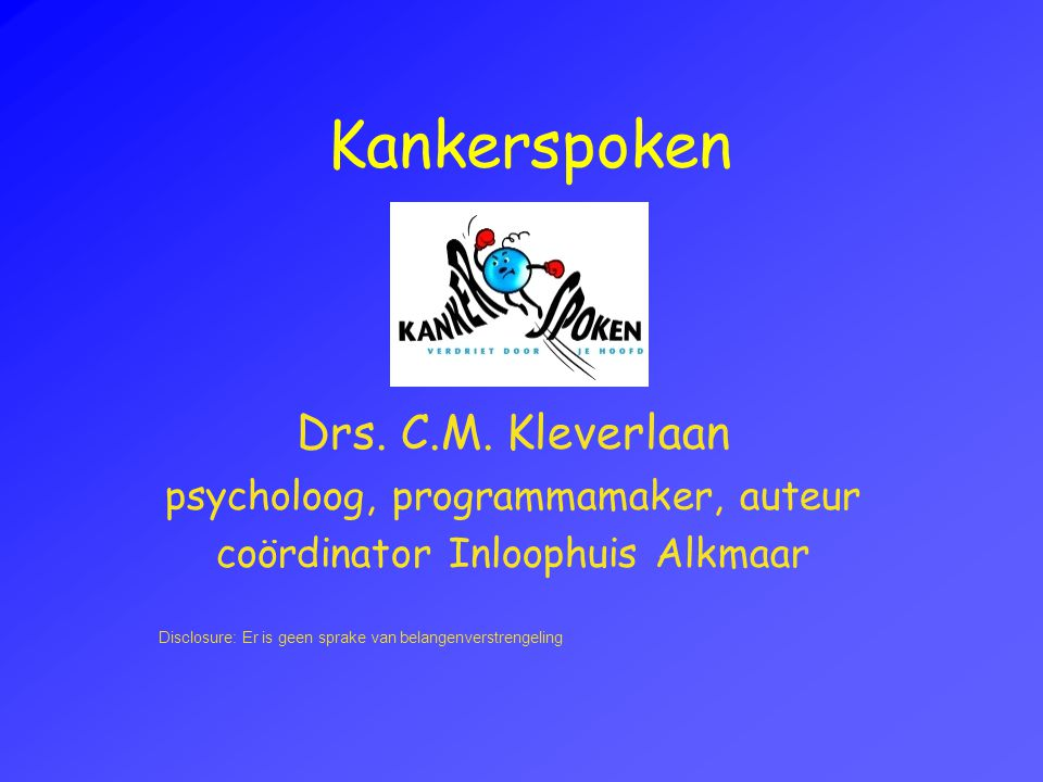 Kankerspoken Drs.C.M.