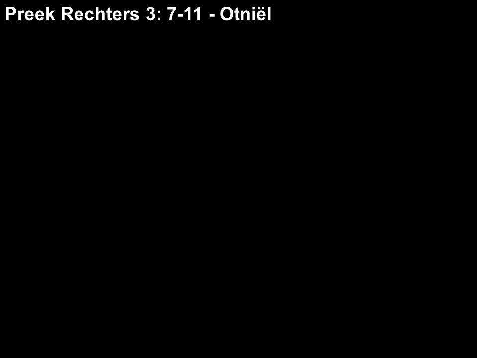 Je wilt graag ongestoord leven maar daarin word je steeds belemmerd want je hebt verlossing nodig Otniël is anders dan veel Israëlieten Maar toen de Israëlieten eenmaal tussen de volken van Kanaän woonden (…) namen ze hun dochters tot vrouw en gaven ze hun eigen dochters aan de zonen van die volken, en dienden hun goden.
