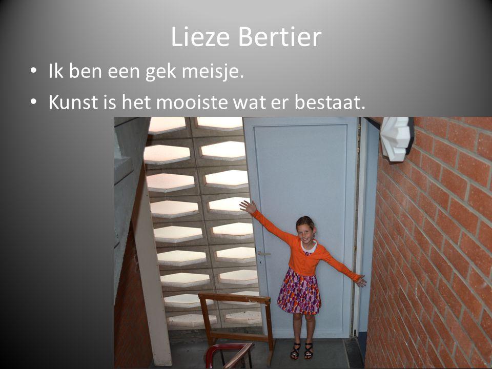 Lieze Bertier Ik ben een gek meisje. Kunst is het mooiste wat er bestaat.