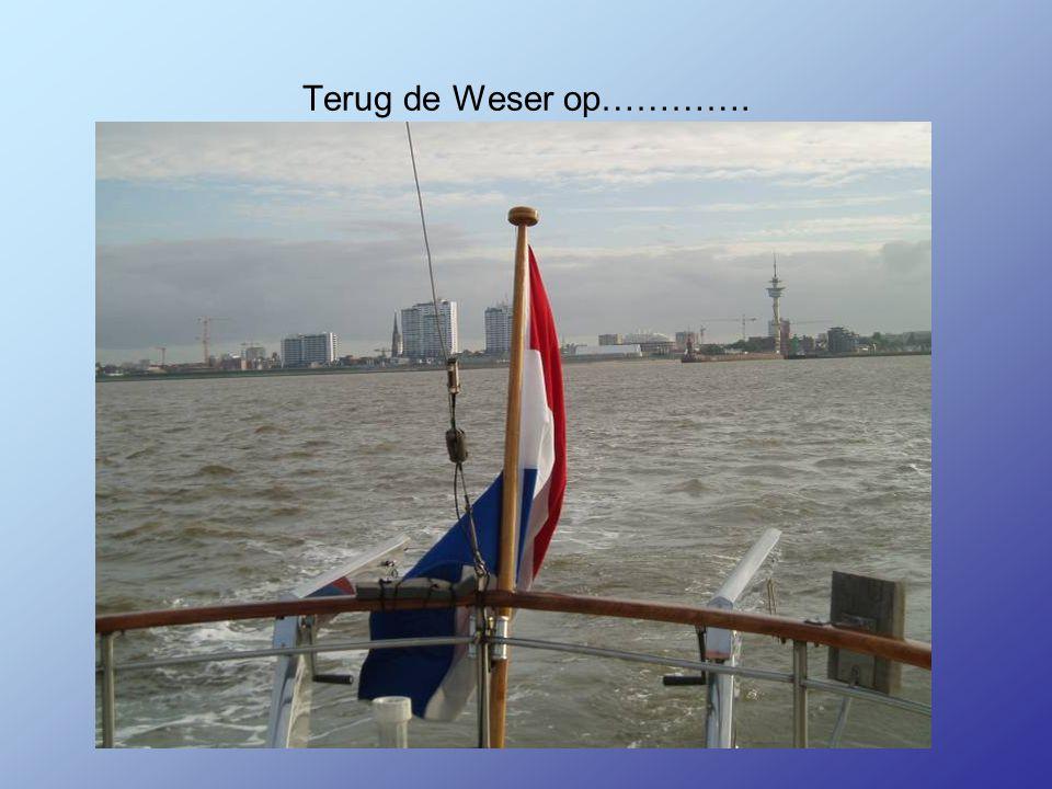Terug de Weser op………….