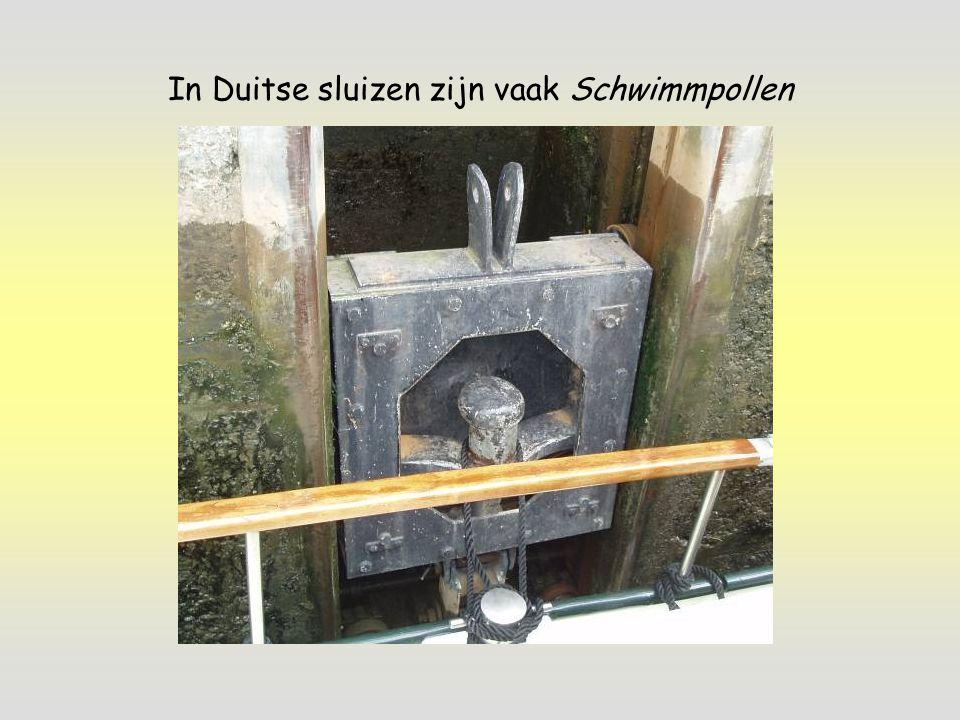 In Duitse sluizen zijn vaak Schwimmpollen