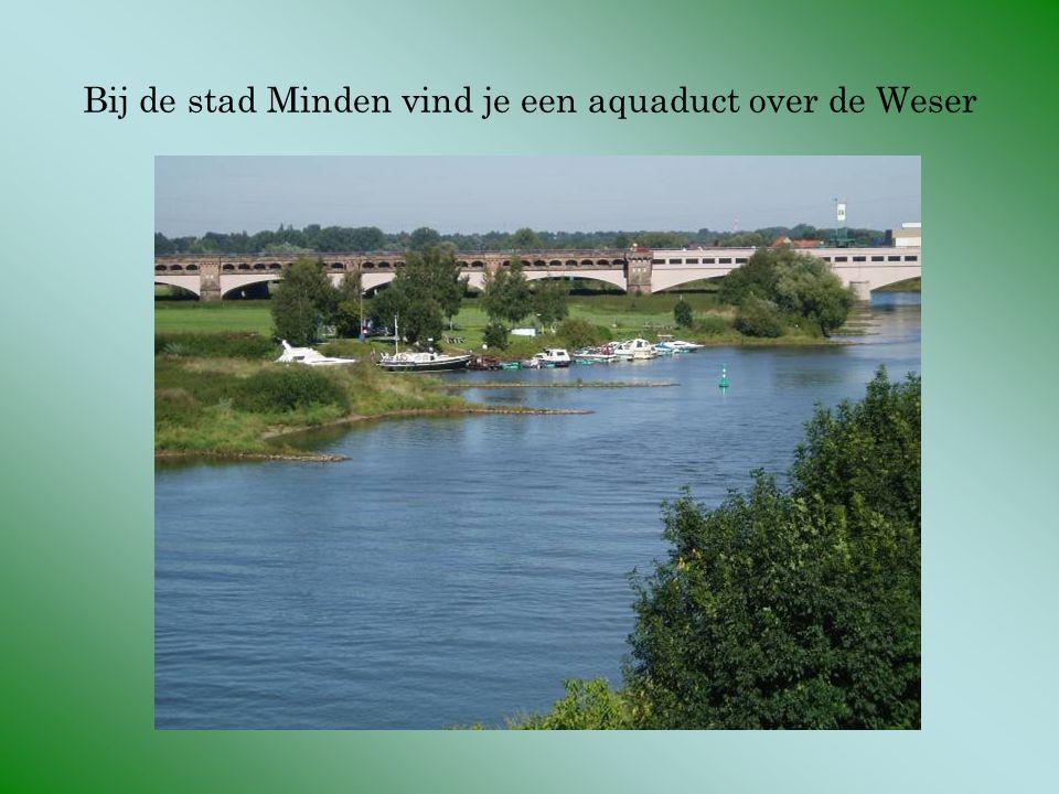 Bij de stad Minden vind je een aquaduct over de Weser