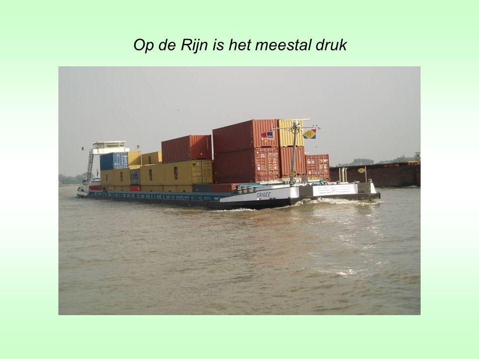Op de Rijn is het meestal druk