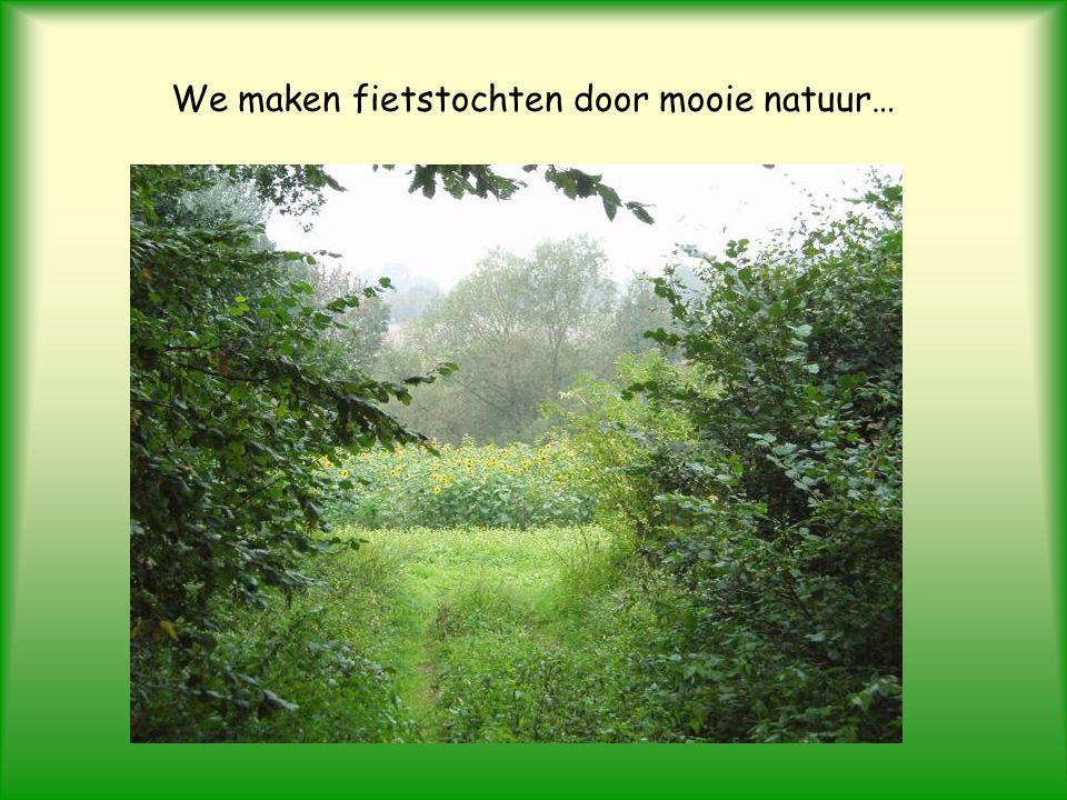 We maken fietstochten door mooie natuur…