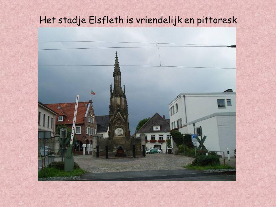Het stadje Elsfleth is vriendelijk en pittoresk